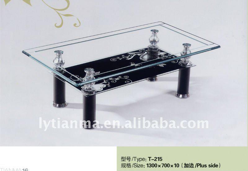 Living Room Furniture Modern Glass Center Table