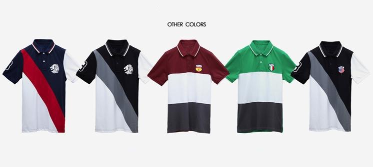 Color combination mens pique embroidered polo shirts logo for Polo shirt color combination