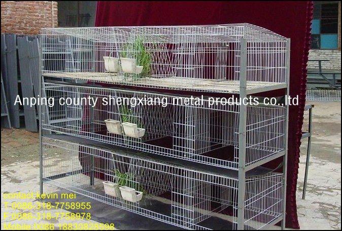 Metal Rabit Rabbit Farming Cage System Factory 3 Or 4