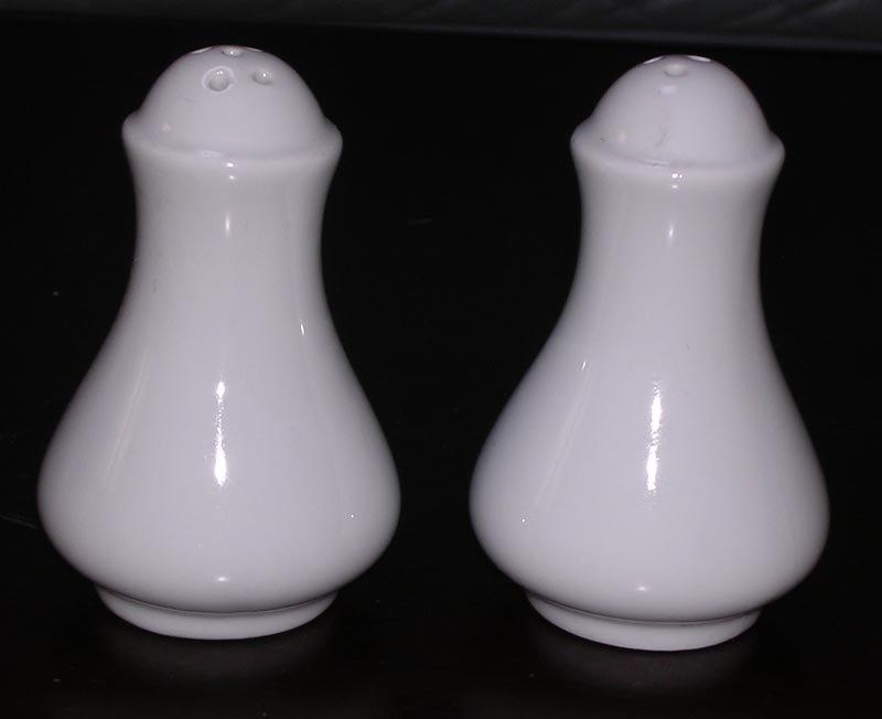 White Porcelain Salt And Pepper Shaker Ceramic