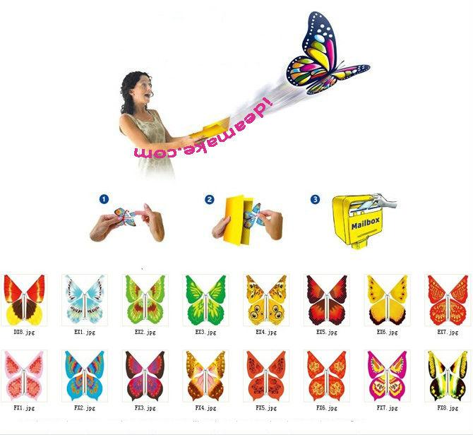 Nouveauté faveurs de mariage Magique papillon qui vole de cartes, lettres,  livres, cadeaux