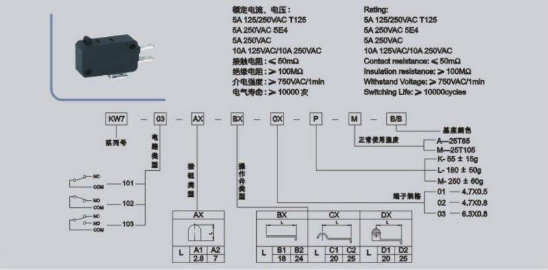 u0026 39 kw4-03 cherry micro switch