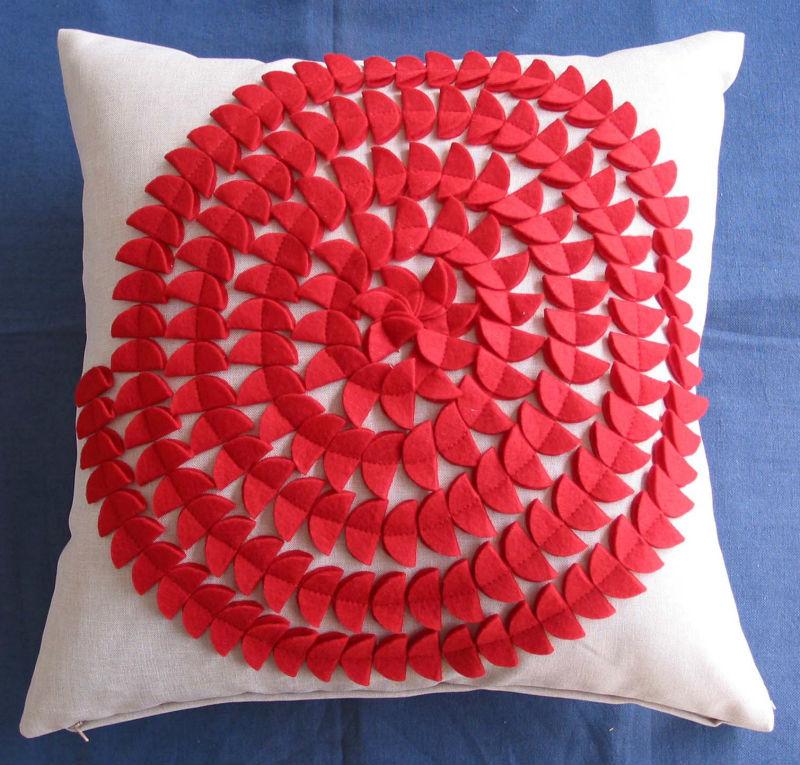 Ribbon embroidery cushion covers makaroka