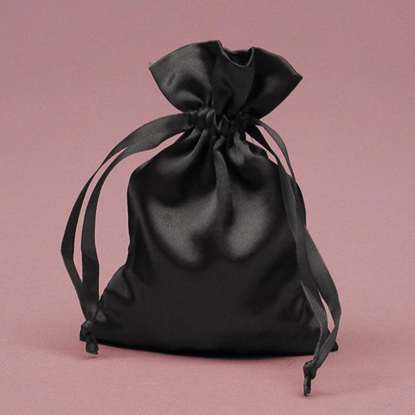 Custom Logo Silk Satin Bags Hair Hair Extension Bags