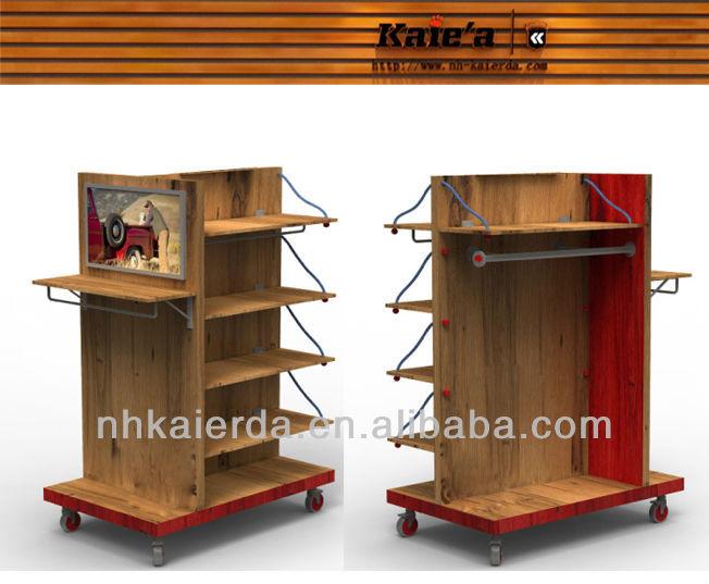 mejor venta de madera mdf muebles para tienda de ropa