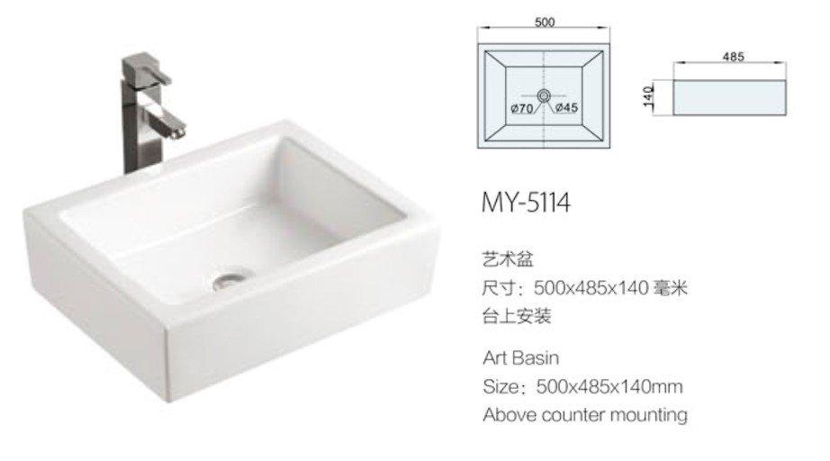 Ceramic Small HandWash Sink And Art Basin MY 5140