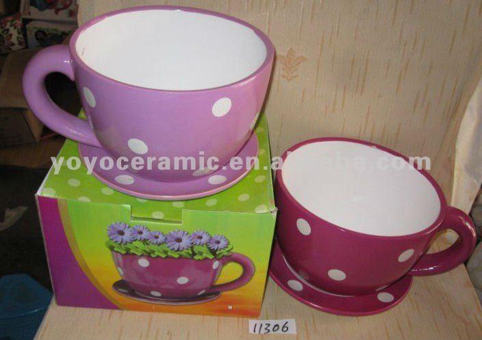 Macetas en forma de taza casa dise o for Tazas grandes