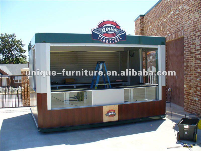 Ce approved outdoor food kiosk outdoor food kiosk design for Exterior kiosk design