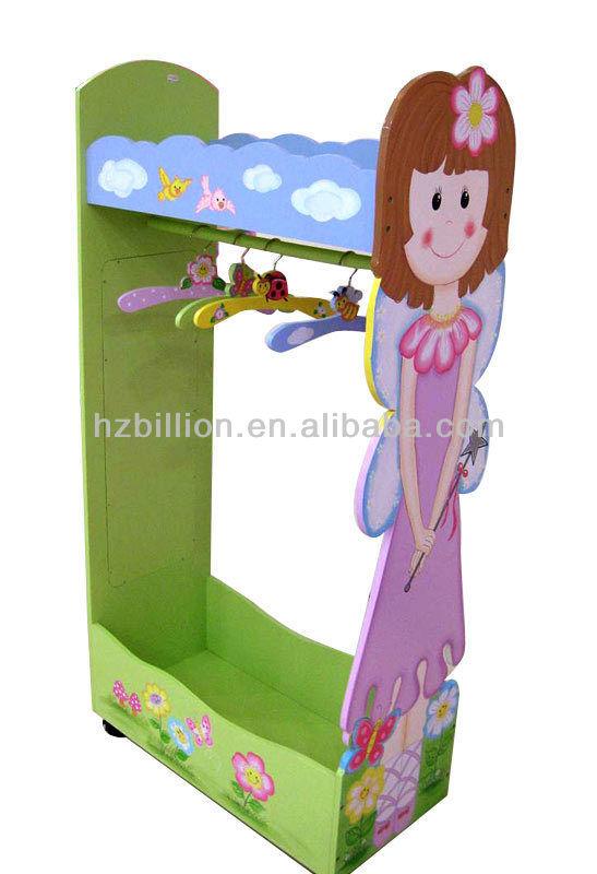 Princess Wooden Kids Clothes Rack