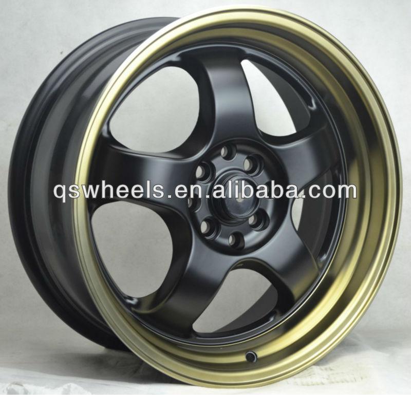 Awesome 4x100 Sport Wheel Rim 17 Inch Deep Dish Wheel Rim Green Car Rims For Sale