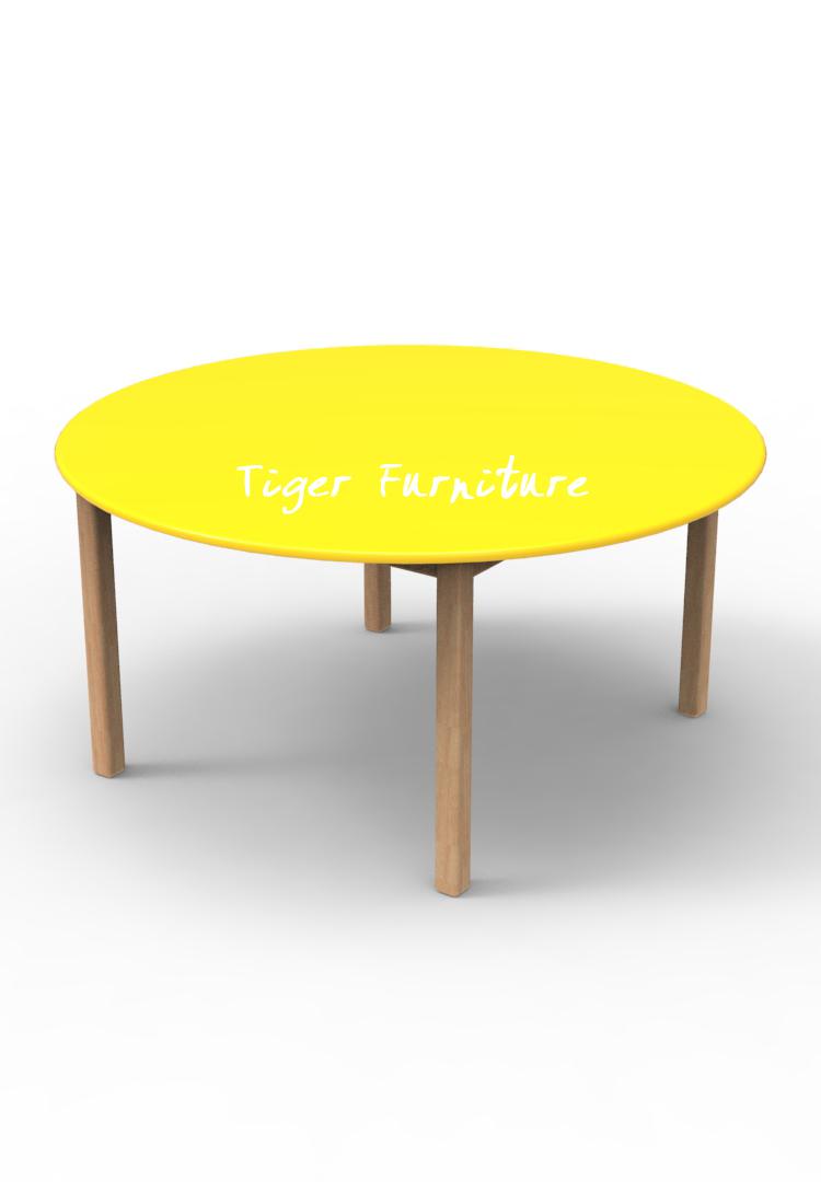 Children Mini Set Kidergarden Rubber Wooden Kids Furniture Color Round Table Buy Kids