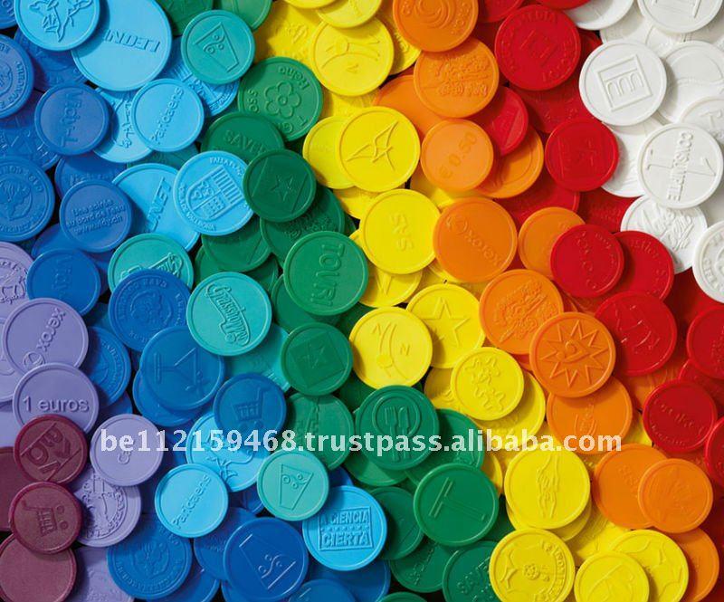 Embossed Plastic Token Coin - Buy Embossed Plastic Token