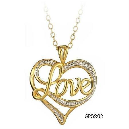 Fashion diamond accent love heart pendant new design gold fashion diamond accent love heart pendant new design gold pendant mozeypictures Images