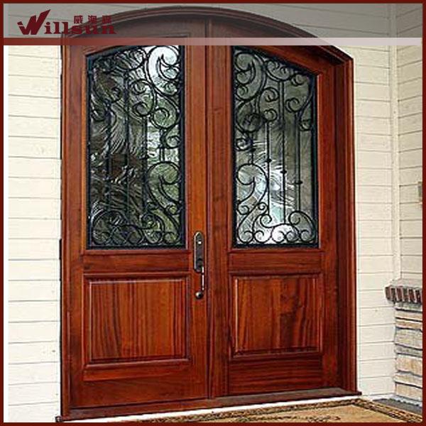 vivienda exterior puerta moderna puerta de hierro forjado