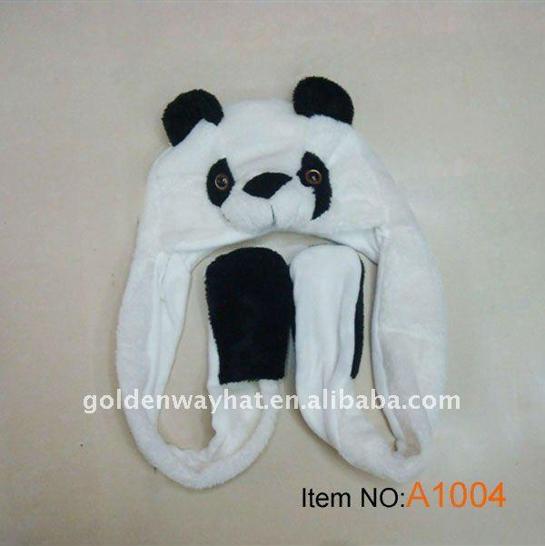 Invierno De La Felpa Sombrero Con Patrón De Panda - Buy Sombrero Del ...