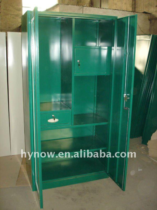 2013 New Design 2 Doors Bedroom Indian Wardrobe DesignMetal