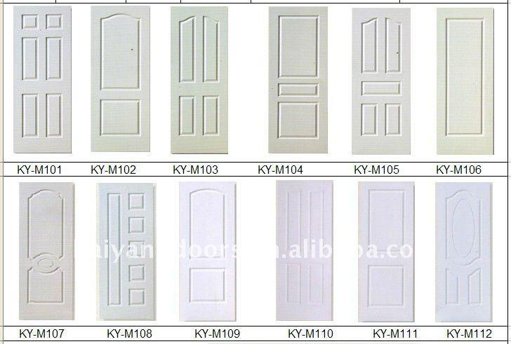 Four raised panel hollow core HDF Molded door