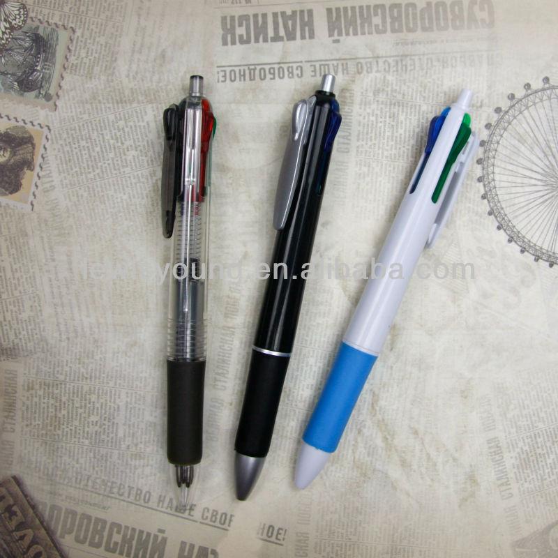 4 colors ball pen bic multicolor pen fur pen