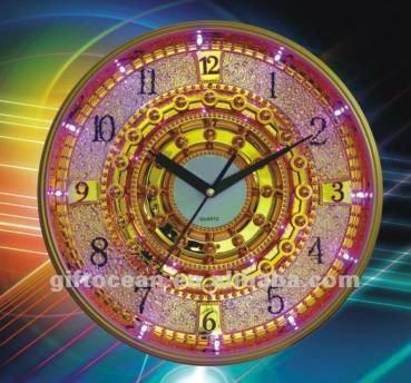 Analog Gorgeous Modern Led Wall Hotel Clock,Hotel Wall Clock With Led Light  - Buy Elegant Hotel Wall Clock,Quartz Analog Led Wall Clock,Lighted Wall
