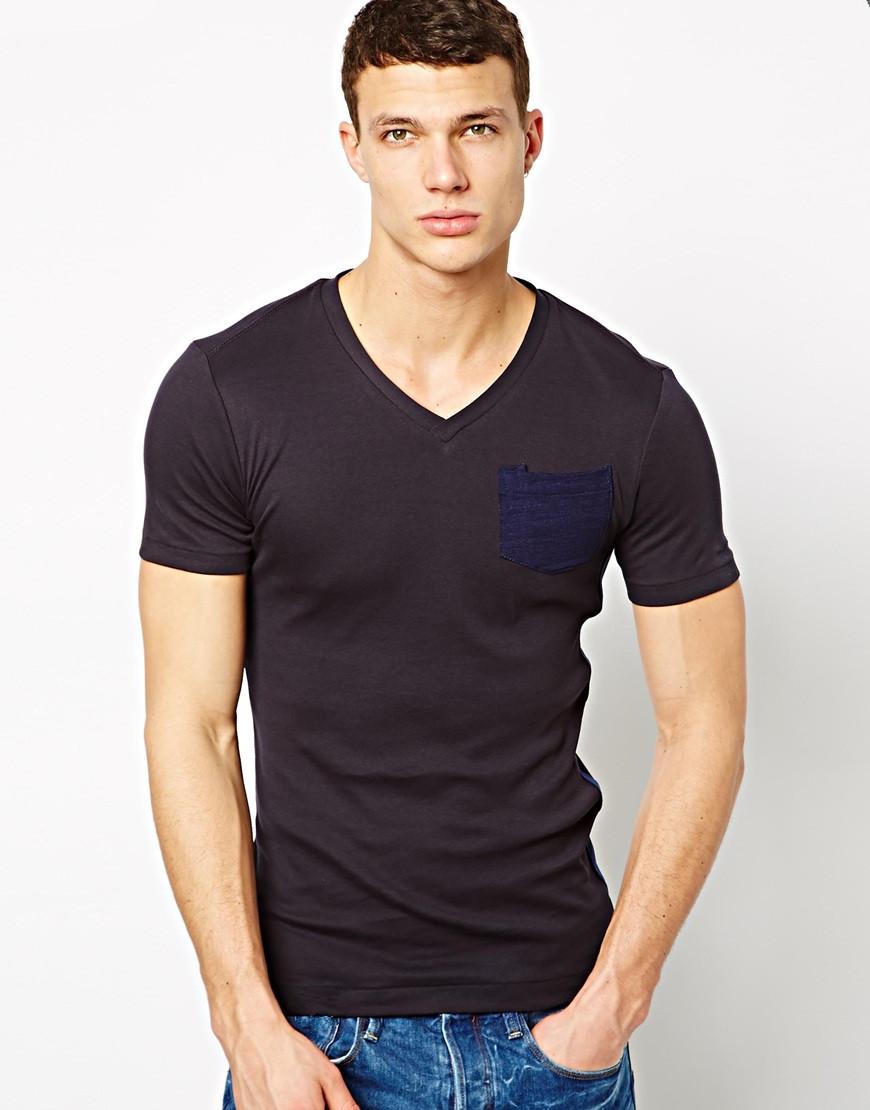 Design shirt v neck - Full Hand Designer V Neck T Shirts With Pocket