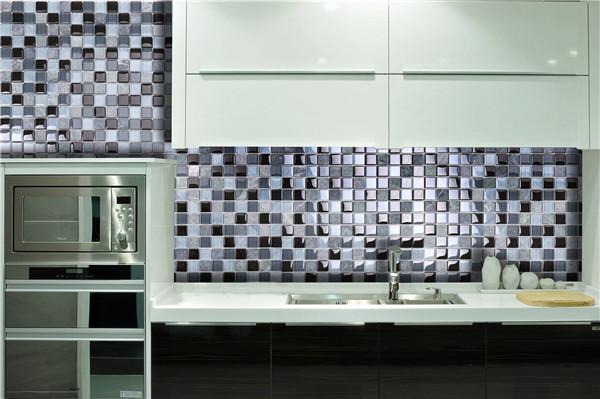 Ks14 2014 nuova tendenza cucina splashback blu e nero colori pietra