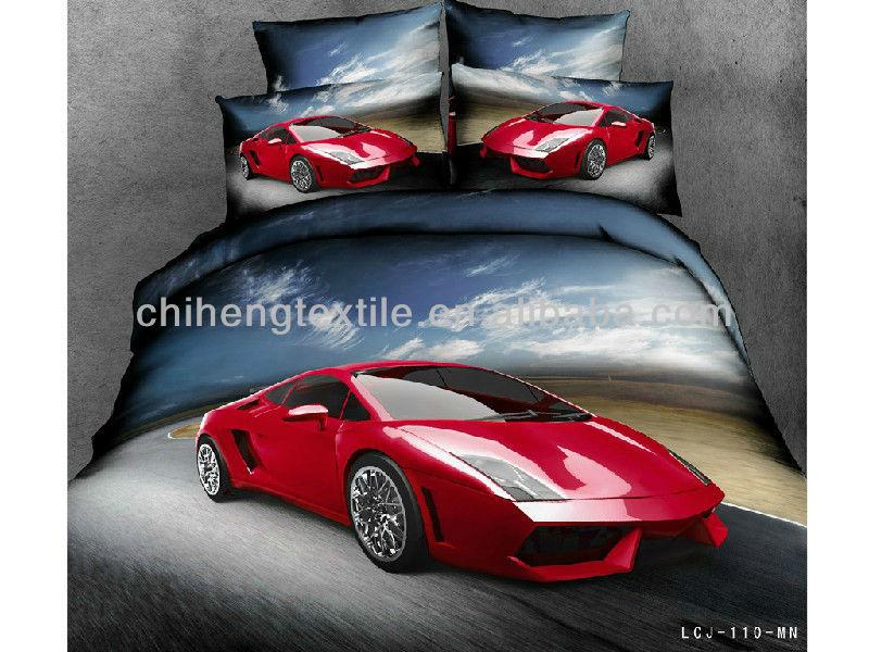 Luxury Lamborghini Sports Car 3d Bedding Set Reactive Printing 40s ...