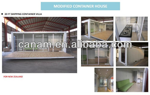 Light prefabricated 20ft container house office design
