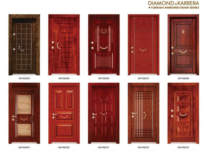 modern design turkey steeo wood armored door