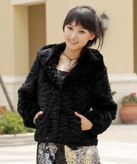 Sheered Rabbit Fur Coat With Flower Types - Buy Rabbit Fur Coat ...