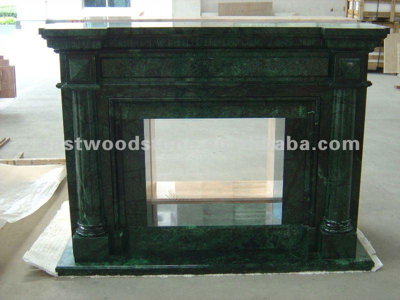 Indian Dark Green Marble Simple Design Fireplace Buy Green