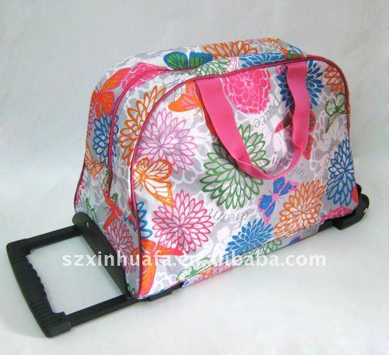 (XHF-TRAVEL-060)fashion girls carry-on travel luggage