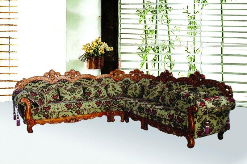 Danxueya nieuwe barokke stijl meubels met carving hoekbank luxe design bank in de woonkamer - Barokke hoekbank ...