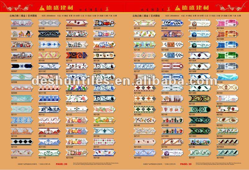 80x250mm listelos azulejos de cer mica buy product on for Listelos de ceramica