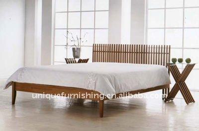 Moderna de madera maciza cama doble dise os de muebles de dormitorio buy product on - Disenos de camas de madera ...