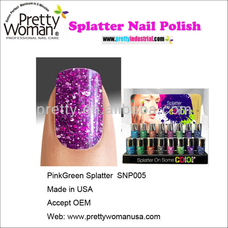 Non Toxic Nail Polish Pink Splatter Nail Polishes Color Pretty Woman ...