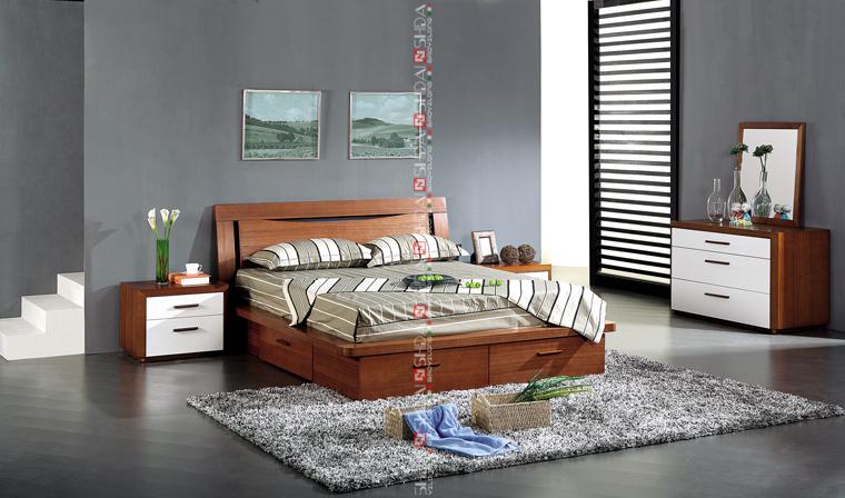B79 wood bedroom furniture set / antique solid rosewood bedroom furniture  set / solid ash wood