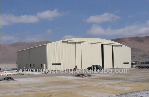 Steel Structure aircraft hangar design