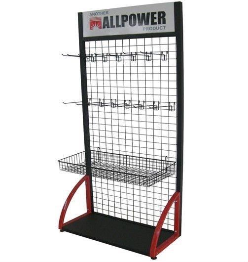 Supermarket Wire Grid Display Rack