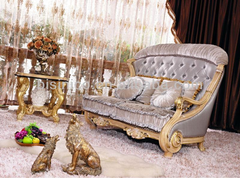 Sofa, Luxury Sofa Set, Living Room Luxury Italian Style Wooden Sofa  Furniture, Home