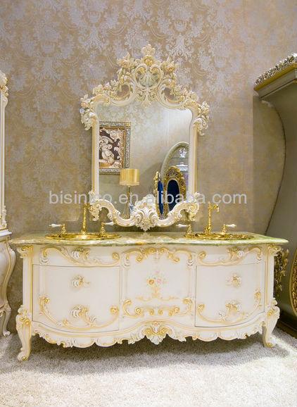 роскошные тщеславия и зеркалоевропейский классическая Vanitoryдеревянные ручной резьбы B51007 Buy ванной комнатырезной антикварной