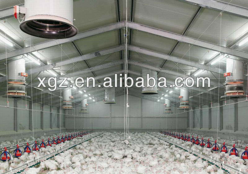 2015 Hot sale steel structure poultry house for chicken