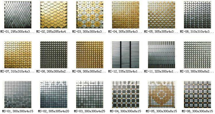 Copper Mosaic Floor Tiles, Wall Tiles For House Design, Metal Mosaic Tiles  For Interior