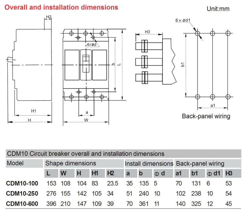 Cdm10 Industry Magnetic Moulded Case Circuit Breaker Mccb Mcb ...