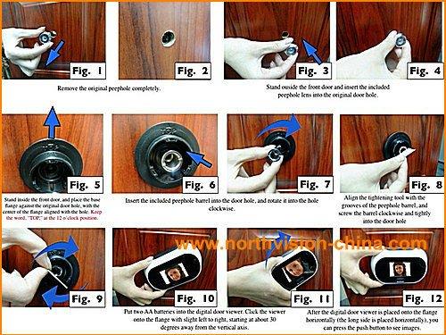 Digital Door Viewer,Small Ordinary Peephole Camera,2.5 Inch Lcd ...