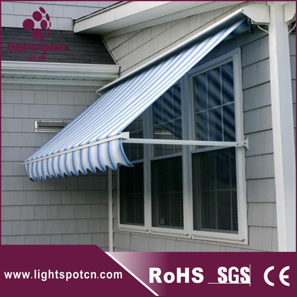 Sliding Rail Drop Arm Awning Building Window Sunshade