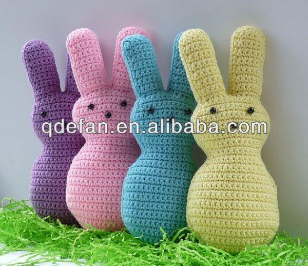 Mano De Punto Encantador Juguete Animal De Ganchillo Conejo Patrones ...