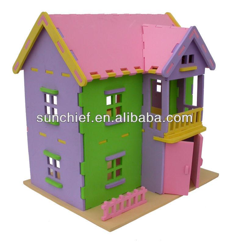 Diy 3d Foam Doll Puzzle House For Kids Buy Kids