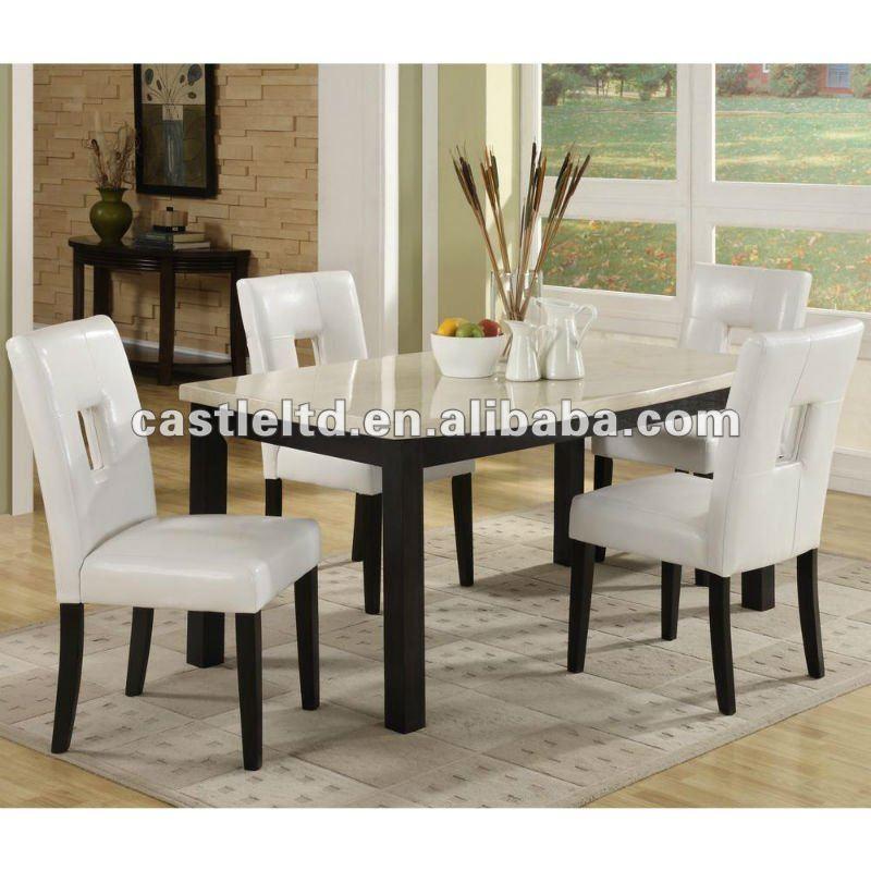 Two Tone Herringbone Brown Leather Chair Parson Chair Set