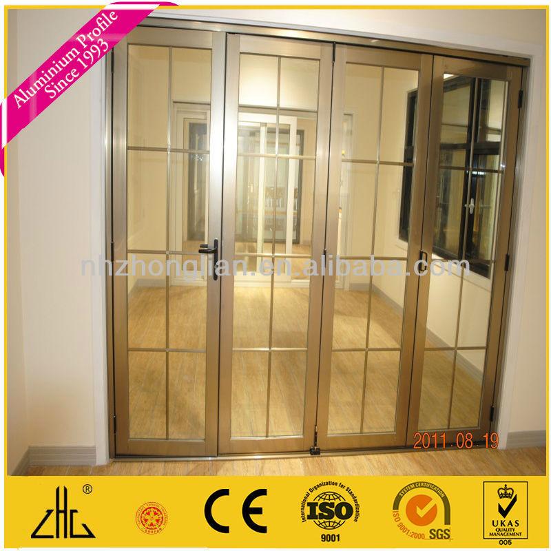 Puerta corredera de aluminio perfiles con champagne for Colores de perfiles de aluminio