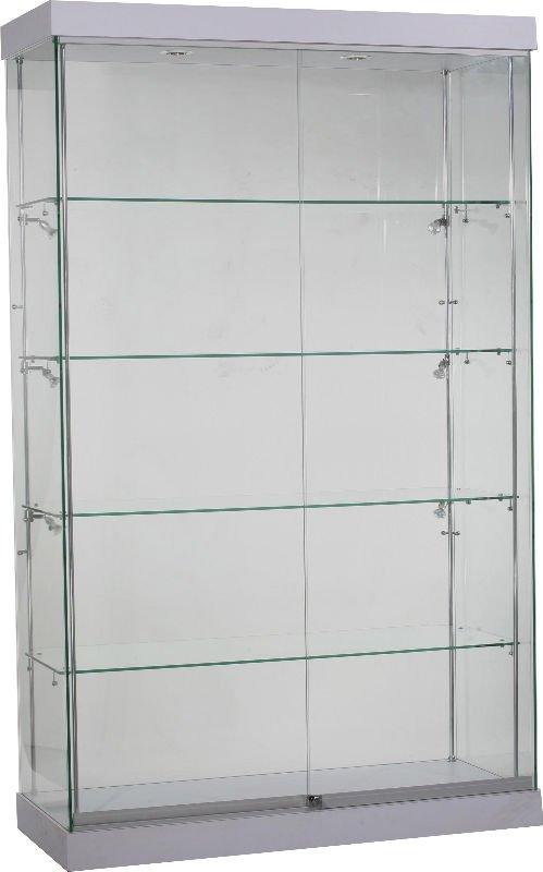 Escaparate de cristal vidrio templado y melamina acabado - Vitrinas empotradas en pared ...